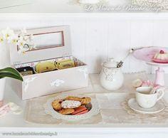 Shabby chic tea box and breakfast  http://www.lamaisondeblancheneige.it