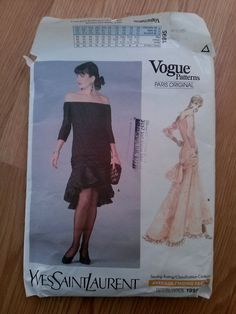 Check out this item in my Etsy shop https://www.etsy.com/listing/254845909/vintage-1980s-pattern-evening-gown-vogue