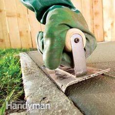 Edging the concrete