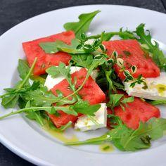 Watermelon Feta Arugula Salad - watermelon salads, my latest obsession.