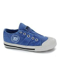 Look at this #zulilyfind! Navy Flex Slip-On Sneaker by Xti Kids #zulilyfinds