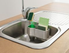 Kitchen Sink Caddies the sink caddy and brush is handy for storing dish brushes and