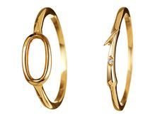 Lulu Frost Code 18K Gold Ring with Diamonds #0-4