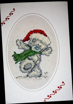 Cross Stitch Tatty Ted For many years I crossed stitched all my cards......up to 150 in a year (Took most of the year to do and not all were as large or fiddly as some of these