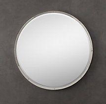 Bistro Polished Nickel Round Mirror  Annie and Clara bath