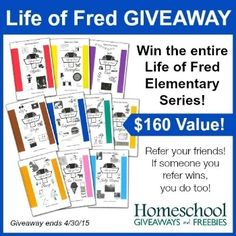 Life of Fred giveaway. Visit. Yellow House Book Rental for details. Giveaway ends April 30, 2015
