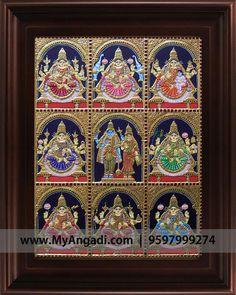 Mural Painting, Mural Art, Wonder Art, Indian Arts And Crafts, Pooja Room Design, Tanjore Painting, Pooja Rooms, Bathroom Art, Bathrooms