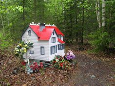From NPR: In Alaskan Cemetery, Native And Orthodox Rites Mix. For the Dena'ina people (Alaska), spirit houses provide a place to shelter the spirits of the dead, and to store their prized possessions.
