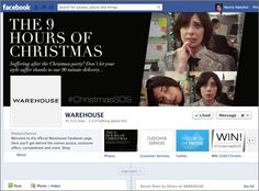 A #ChristmasSOS competition on Warehouse's Facebook page gave people the chance to win a £500 shopping spree