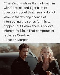 Last sentence has cleared my acne and cured my depression. Caroline Forbes, Klaus And Caroline, Vampire Diaries Quotes, Vampire Diaries The Originals, The Cw, The Originals Show, Originals Cast, Tvd Quotes, Vampire Daries