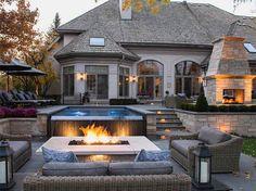 Fresh Villa Haus Swimmingpool Garten Feuerstelle