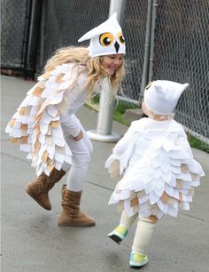 Warm, hand made owl costume for big and little kids! Fresh Outtakes