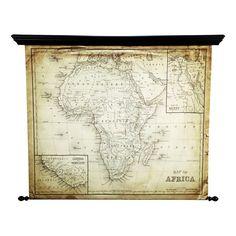 Explora Antiqued Fabric Map Of Africa 126 X 154cm Maisons Du Monde Carte Afrique Images Carte Decorations Murales Maison