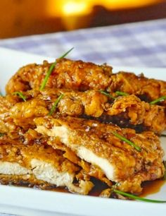 Double Crunch Honey Garlic Chicken Breasts ~ This double crunch honey garlic chicken breasts is by far may be one of the most tempting recipes you could ever try, because these chicken breasts are so special.