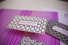 business cards_Interior Design. Using a variety of background shapes used in interior design fabrics and wallpapers.
