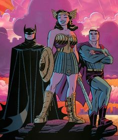 Big Three//Darwyn Cooke/C/ Comic Art Community GALLERY OF COMIC ART