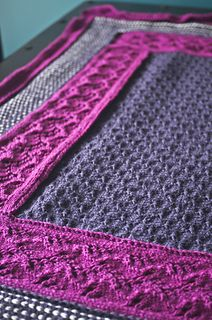 Plum throw by Joleen Kraft. Knit, but I love the colors and textures...