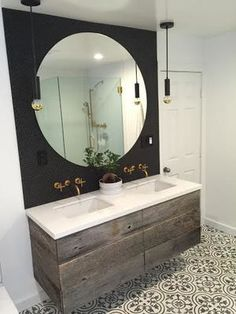 This Bathroom Vanity Was Hand Crafted Using Reclaimed Oak Barn Boards. Our  Customer E Mailed Us A Few Inspiration Pics They Liked For Their Bathroom  Remodel ...