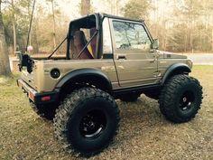 "1987 Suzuki Samurai "" Sammy On Steroids"" A/T Pro Built Custom Mini Trucks, Lifted Trucks, Pickup Trucks, Ford Trucks, Jeep Jk, Custom Trucks, Custom Cars, Sidekick Suzuki, Samurai"
