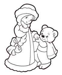 Снегурочка и мишка