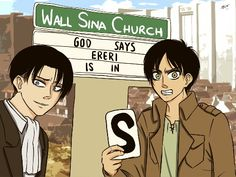 Ereri/Riren (The 'S' Eren's holding means SHIT)