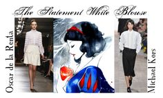 Autumn/Winter 2015 Trend; The Statement White Blouse by kimearls on Polyvore featuring Oscar de la Renta