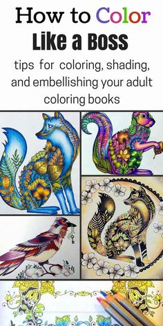 Learn how to rock coloring books with these tips and tricks for awesome coloring, shading, and embellishments! Colouring In Books, Colouring For Adults, Coloring Book Art, Coloring Tips, Adult Coloring Pages, Coloring Sheets, Coloring With Gel Pens, Colouring Pencils, Shading With Colored Pencils