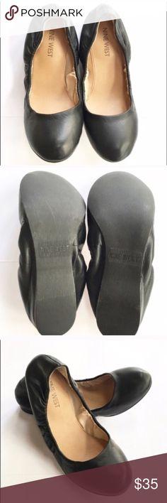 "NWT Nine West Larson black leather ballet flats Brand new in box! Black leather Larson flats from Nine West, size 6. Slight internal ""heel"", about 1"". Nine West Shoes Flats & Loafers"