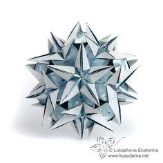Kusudama Me! - Modular origami! - Great website