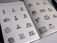 Beautiful Brainstorming: 25 Inspirational Icon Sketches