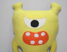 Monster Plush Custom Stuffed Animal Soft Toy by SNGInspirations, $12.00