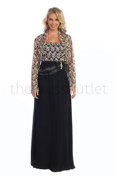 Long Mother of the Bride Plus Size Dress Jacket Lace Modest