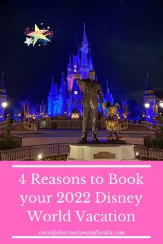 You can now book your 2022 Disney World vacation package! I am sharing with you four reasons why you should book your 2022 Disney World vacation today! #Disney #DisneyWorld #DisneyVacation #WDW #VacationPlanning #TravelAgent #DisneyTravelAgent #2022 Disney Resort Hotels, Disney World Hotels, Disney Destinations, Walt Disney World, Disney World Vacation Packages, Disney Vacations, Key West Resorts, Hotels And Resorts, Saratoga Springs Resort