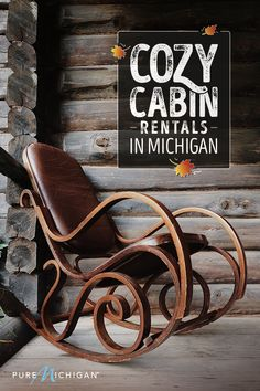 Beautiful places to stay when visiting Michigan. Michigan Vacations, Michigan Travel, Dream Vacations, Vacation Spots, Vacation Ideas, Recreational Activities, Cozy Cabin, Cabin Rentals, Great Lakes