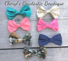 Fabric Bow ties for Boys or Girls Bow ties on Alligator clip, Downward clip or Clasp Pin. You choose by CherylsBowtasticBows
