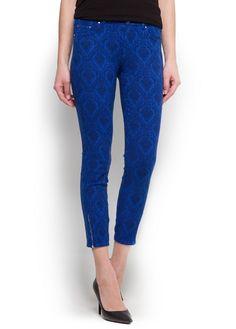 MANGO - Baroque texture trousers #New