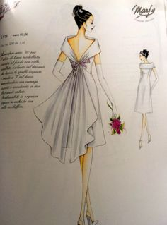 Project WD: And so it begins. Evening Dress Patterns, Wedding Dress Patterns, Dress Making Patterns, Fashion Drawing Dresses, Fashion Illustration Dresses, Marfy Patterns, Clothing Patterns, Vintage Dresses, Vintage Outfits
