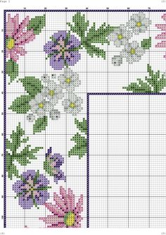 This Pin was discovered by zeh Cross Stitch Love, Cross Stitch Cards, Cross Stitch Borders, Cross Stitch Flowers, Cross Stitch Designs, Cross Stitching, Cross Stitch Embroidery, Embroidery Patterns, Cross Stitch Patterns