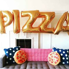 Decorate with some ~beautiful~ pizza balloons…