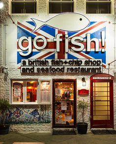 Go Fish ! Restaurant, Rehoboth Beach, Delaware, USA.  Very good food. Aqui estuve!