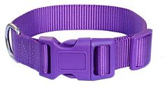 Dark Orchid Nylon Pet Dog Collars for Medium Girl Boy Dogs 1220 Medium Size by Lanyar -- You can find more details by visiting the image link.