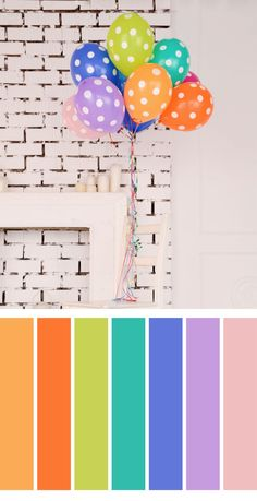 Birthday colors palette Colour Pallette, Color Palate, Colour Schemes, Color Combinations, Design Seeds, Color Tile, Color Blending, Color Swatches, Coloring For Kids
