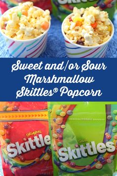 Marvel Captain America - which side will you choose? Sweet or sour? We've put together this fun recipe pitting Original Skittles® candy against Skittles® Sour candy with our Sweet and/or Sour Marshmallow Skittles® Popcorn, which is perfect for movie night.  ‪#‎Buy2Get2 AD