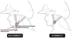 Correct helmet retention: You should only be able to fit two fingers between the strap and under the chin. If you yawn, you should feel the retention straps pull the helmet down on the top your head more.