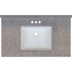 Rocky Trail 37x22 Engineered Stone Granite Finish Vanity Top