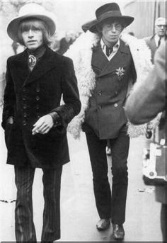 CELEBRITY ICONS   The Rolling Stones: Brian Jones and Keith Richards