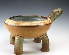 Tortoise yarn bowl