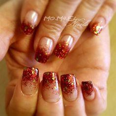 Red Glitter Fade by MoMaEl - Nail Art Gallery nailartgallery.nailsmag.com by Nails Magazine www.nailsmag.com #nailart