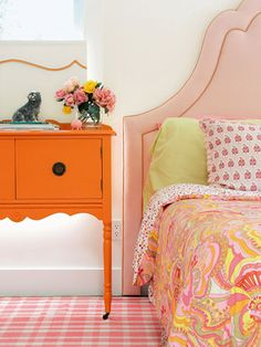love these bright hues and mixed patterns