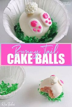 I know my kids would love a project like these Bunny Tail Cake Balls and I figure other kids will too! Not a cake decorator? You can still do this! I give tips and step-by-step instructions on how to do it without any special equipment or cake decorating tools!!